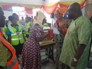 Distribution of goods to widows